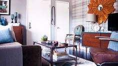 Home Tour: An Interior Designer's Smart and Stylish Small Space via @domainehome + Mid century modern console