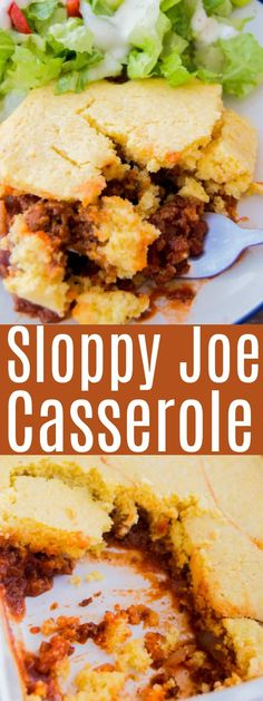 A childhood favorite done a new way! This Sloppy Joe Casserole is a family favorite you are going to want to try, everyone LOVES it! Ground Beef Recipes For Dinner, Dinner With Ground Beef, Easy Dinner Recipes, Side Recipes, Cheap Casserole Recipes, Sloppy Joe Casserole, Sloppy Joes Recipe, Cooking Recipes, Housewife