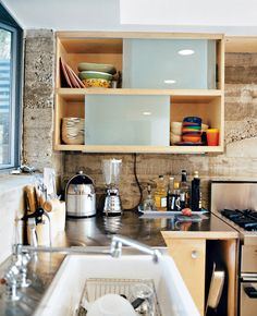 Keep lines and materials simple. | 31 Tiny House Hacks To Maximize Your Space