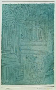 hipinuff:Paul Klee (German, b. Switzerland. 1879–1940), Forest Architecture, 1925. Pen and watercolor on paper mounted on cardboard.