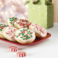Vanilla Glazed Snow Cookies