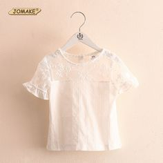 >> Click to Buy << Casual Solid Lace Girls T Shirt Short Sleeve 2017 Summer Kids Clothes Cute Girl T-shirts and Tops Children Clothing Baby Blouse #Affiliate