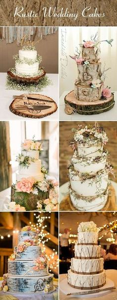 DIY country wedding cake ideas...