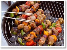 Delicious! Kid-friendly barbecued kabobs