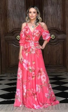 Cute Floral Dresses, Elegant Dresses, Casual Dresses, Maxi Outfits, Fashion Outfits, Dame Chic, Fiesta Outfit, Evening Dresses, Summer Dresses