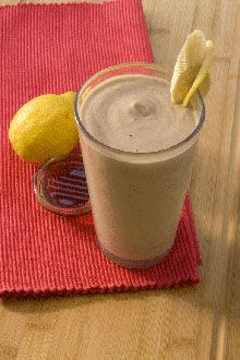Blend lemon, honey, yogurt and a banana for a super smoothie recipe and a big boost of energy to take on any activity.