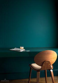 Bedroom paint ideas benjamin moore color trends Ideas for 2019 Green Painted Walls, Teal Walls, Green Walls, Teal Paint Colors, Bedroom Paint Colors, Paint Decor, Benjamin Moore Paint, Benjamin Moore Colors, Benjamin Moore Turquoise