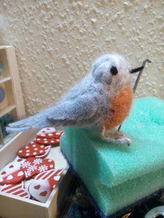 My first needlefelted Bird