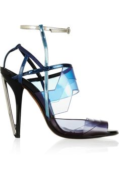 Fendi | Leather and PVC sandals | NET-A-PORTER.COM
