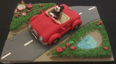 Mickey Mouse car cake - Cake by FairyDelicious