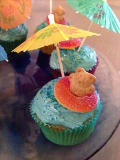 Image result for hawaiian theme cupcakes