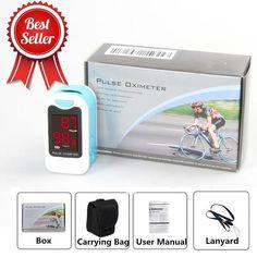 Finger Pulse Oximeter Portable Heart Rate SPO2 Monitor Blood Oxygen Meter Sensor