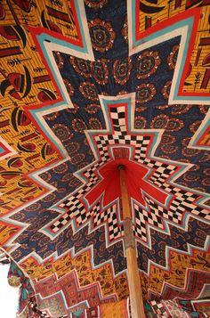 The 'ceiling' of a tent in Mauritania