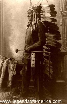 Sitting Bull (1831-1890) -- On July 19, 1881, after four years of self-exile in Canada, Sitting Bull and his followers surrendered to U.S. officials at Fort Buford in what is now North Dakota and were placed on the nearby Standing Rock Indian reservation. Nine years later, during the Ghost Dance Movement, Indian police were sent to arrest Sitting Bull, who was accused of encouraging Indian rebellion.