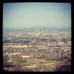 Phoenix, Arizona from the top of South Mountain