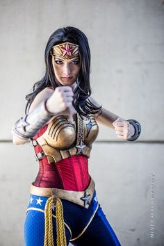 Injustice Wonder Woman, Cosplayed by Katie Cosplays, Photos by Mineralblu Photography.
