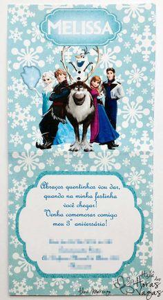 convite artesanal frozen floco de neve