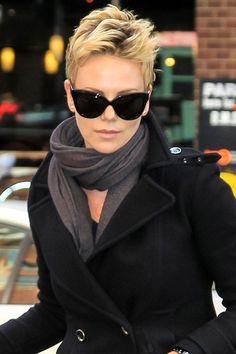 Charlize Theron spiked short hair #shorthair by kenya