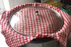 Catch unwanted condensation with a towel placed under your crockpot lid.