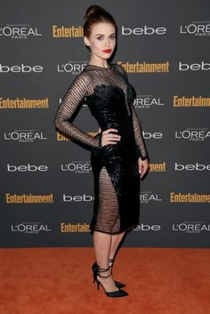 Holland Roden wearing Georges Chakra Couture at the EW Pre Emmy 2013 Party ♥ VISIT US: www.ladymarshmallow.com ♥