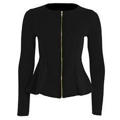Forever Womens Long Sleeves Plain Zip Peplum Blazer Jerse... https://www.amazon.com/dp/B00PZU584I/ref=cm_sw_r_pi_dp_x_.QOLyb6TGB20C