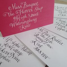 the marvellous and quirky UK calligrapher Scarlet Blue