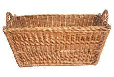 French Woven  Basket on OneKingsLane.com