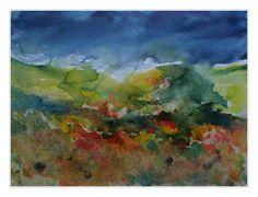 Landschaft, Aquarell 40x60 cm