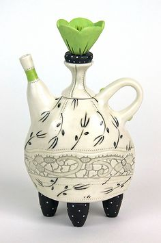 Winter Garden Tea by Laura Peery: Ceramic Teapot available at www.artfulhome.com