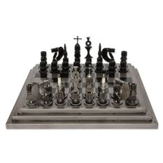 Artisan Crafted Upcycled Car Parts Chess Set