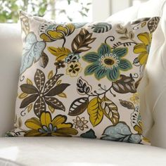 Turquoise Floral Milly Pillow | Kirklands