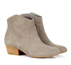 Western Inspired Bootie in Suede.