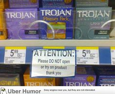 And what exactly occurred at that store to cause them to post this sign?!?