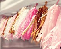 Tassel Garland, Pink Blush Ivory & Gold, 6 ft with 19 Tassels, $35 www.etsy.com/shop/All4partytime?ref=related-shop-2&ga_search_query=tassel+garland&ga_order=most_relevant&ga_explicit_scope=1&ga_page=2&ga_search_type=handmade&ga