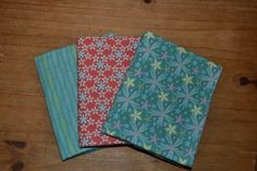"""""""Southern Lights"""" flannel and cotton burpcloths"""