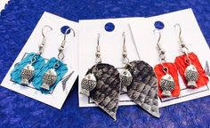 Small Stuff, Leather Skin, Tilapia, Leather Earrings, Jewellery, Accessories, Design, Fish, Leather
