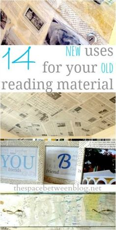 upcycling ideas - new uses for old reading material #Eclecticdecor