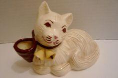 Vintage Hedi Schoop Kitten Cat Planter Vase - Hollywood Calif.