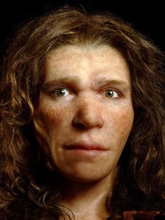 reconstruction of a neanderthal woman