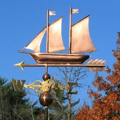Sailboat Weathervane from the Weathervan Factory 1-207-843-0440