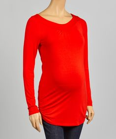 Mythereal Red Yoke Maternity Top