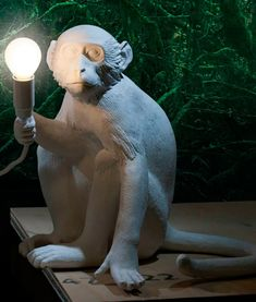 Sitting Monkey Table Light complete with LED Lamp