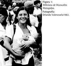 fotografía tomada en Matagalpa en 1982 por el fotógrafo nicaragüense Orlando Valenzuela a una guerrillera Sandinista