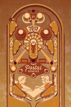 ThornCreative – The Postal Service gig poster