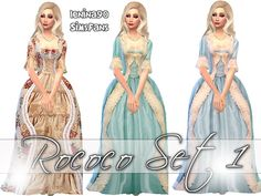 Rococo historical gowns by lenina_90 at Sims Fans via Sims 4 Updates