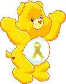 Childhood cancer awareness bear