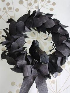 corvo coroa de flores