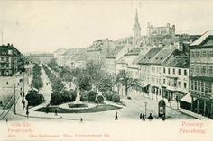 Bratislava na dobových fotografiách - fotogaléria - bratislava. Bratislava, Old Street, Paris Skyline, History, City, Poster, Photography, Travel, Painting