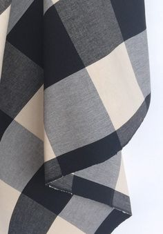 Buffalo Check fabric in black and cream. Available by the yard at www.tonicliving.com - we ship everywhere.