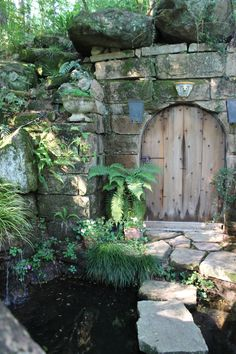 enchanted pond with garden gate to ? Garden Doors, Garden Gates, Portal, My Secret Garden, Secret Gardens, Enchanted Garden, Old Doors, Water Garden, Water Pond